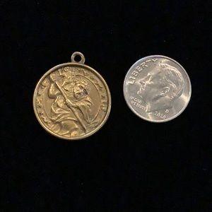 Brass Antique Saint Christopher